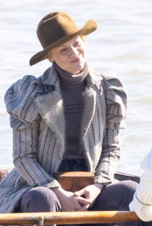 Claire Danes - Filming Essex Serpent