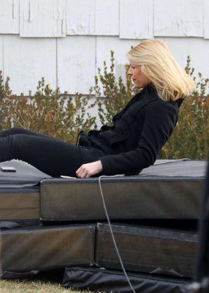 Claire Danes - Filming 'Homeland' Season 6 in New York