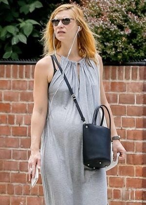 Claire Danes in Long Dress out in New York