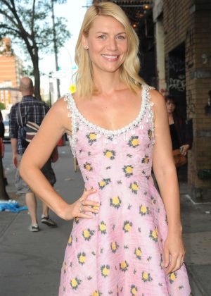 Claire Danes on the Lower East Side of Manhattan in NYC