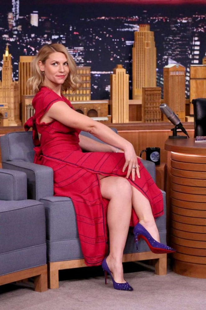 Claire Danes on 'The Tonight Show Starring Jimmy Fallon' in NY