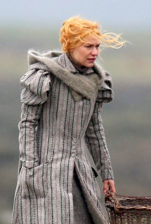 Claire Danes - Seen filming 'The Essex Serpent' in London