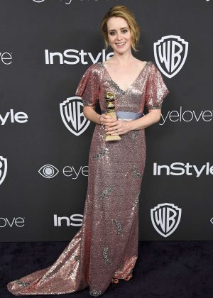 Claire Foy - 2017 InStyle and Warner Bros Golden Globes After Party in LA