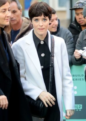 Claire Foy - Arrives at 'AOL Build Series' in New York City