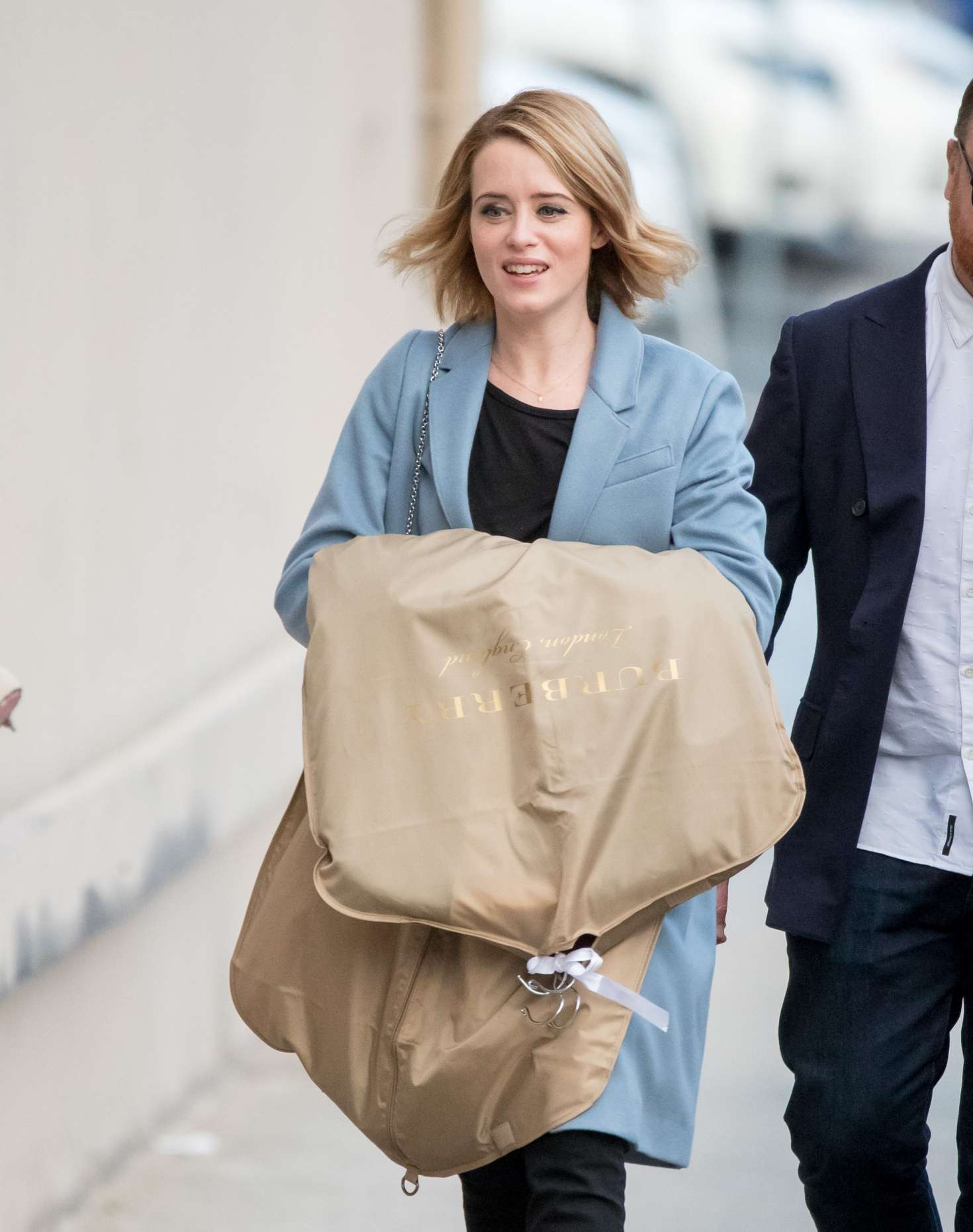 Claire Foy - Arriving at Jimmy Kimmel Live! in Los Angeles