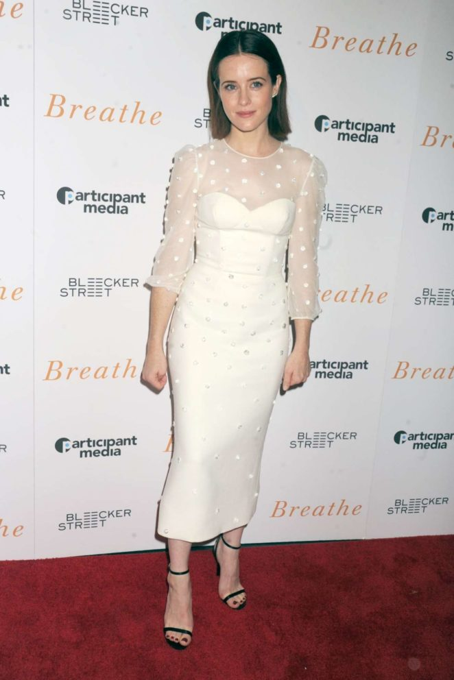Claire Foy - 'Breathe' Screening in New York