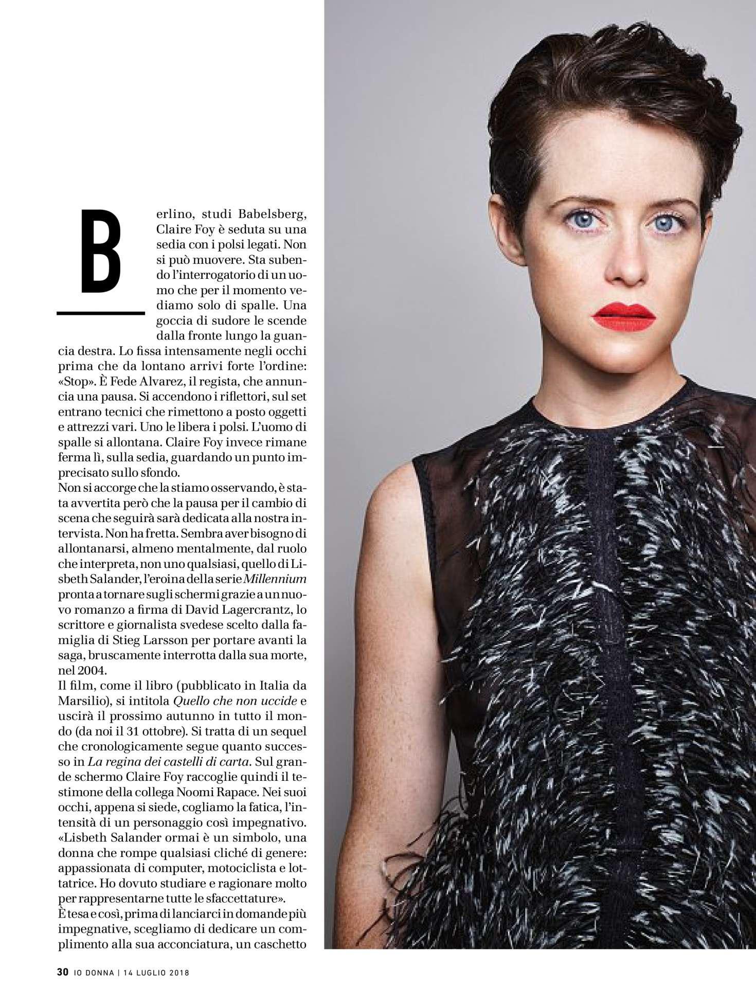 Claire Foy 2018 : Claire Foy: Io Donna del Corriere della Sera 2018 -05