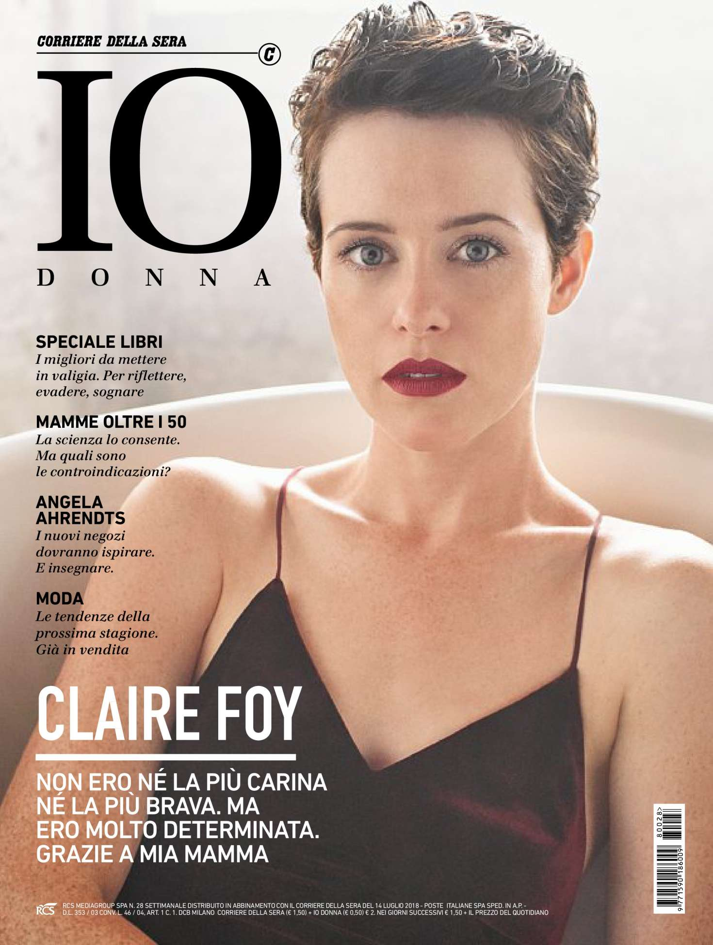 Claire Foy 2018 : Claire Foy: Io Donna del Corriere della Sera 2018 -06