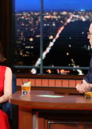 Claire Foy on 'The Late Show with Stephen Colbert' in New York
