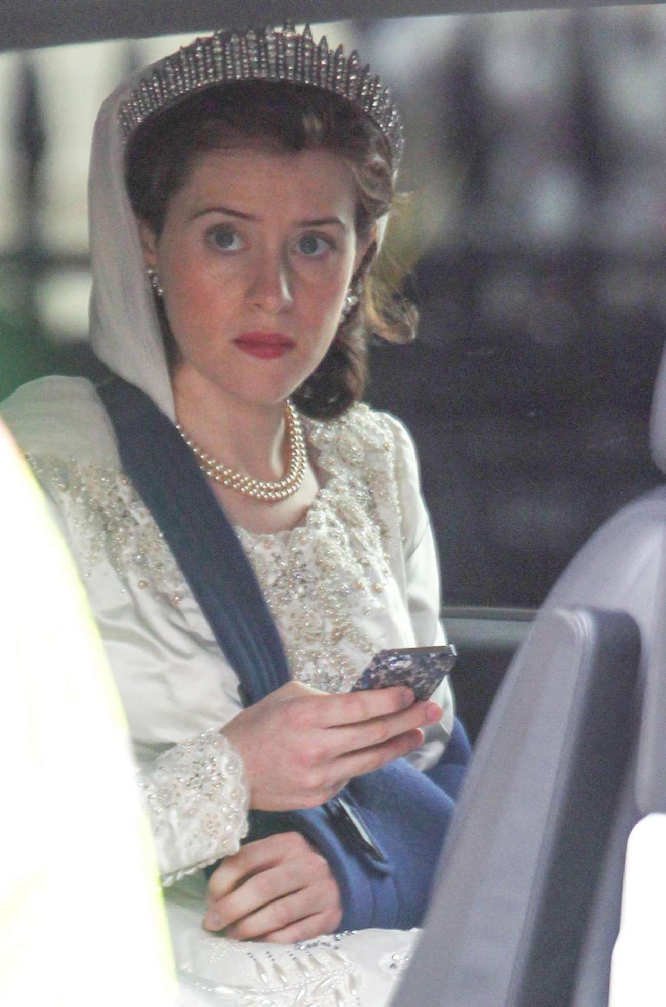 Claire Foy 2015 : Claire Foy: OnThe Crown set -11