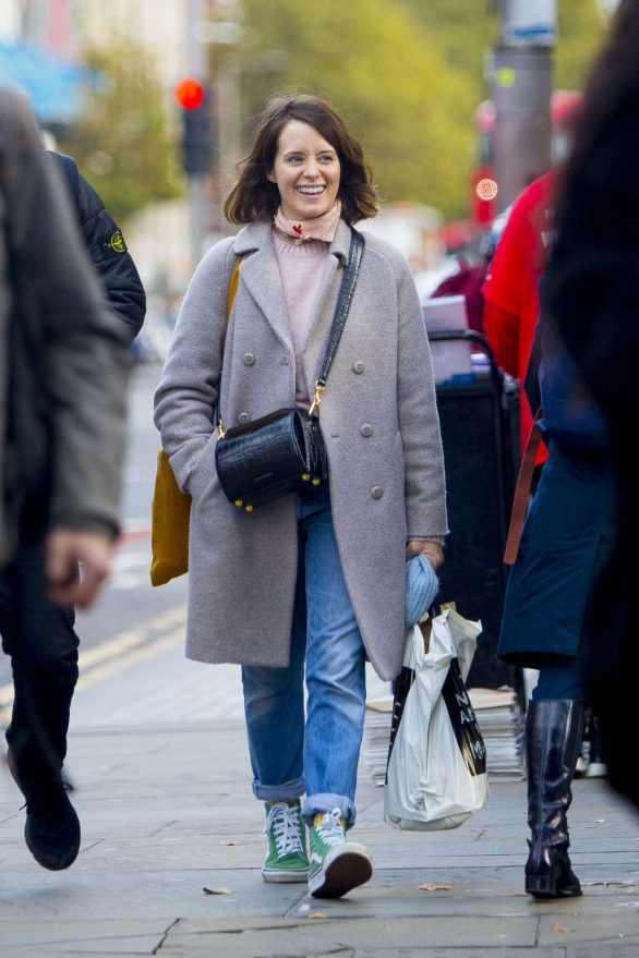 Claire Foy - Out in London