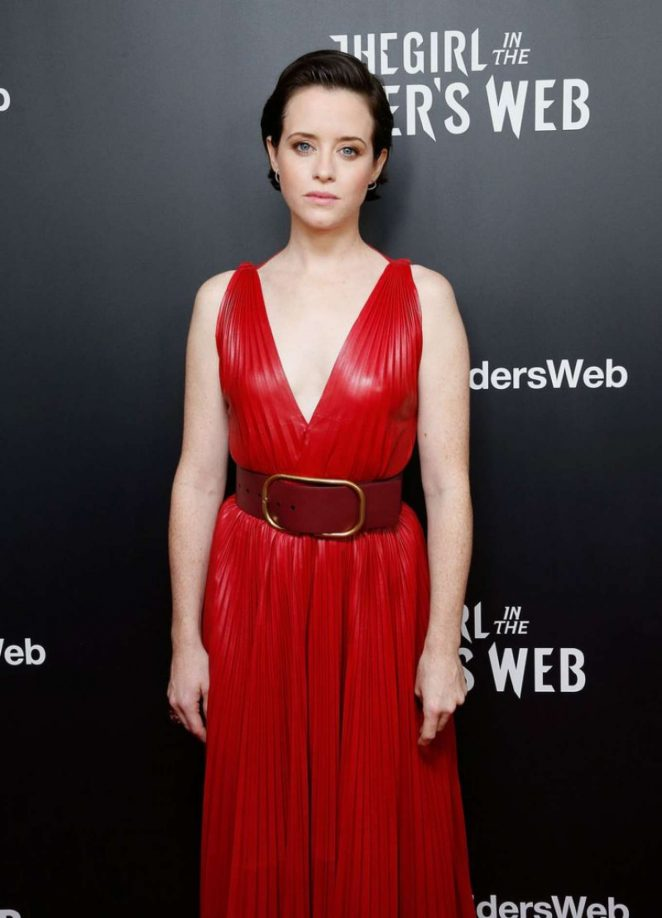 Claire Foy - 'The Girl in The Spider's Web' Screening in New York