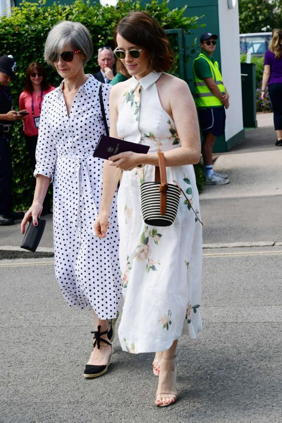 Claire Foy 2019 : Claire Foy – Wimbledon Tennis Championships 2019-06