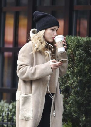 Claire Holt at Starbucks in Vancouver