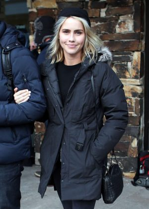 Claire Holt out at 2017 Sundance Film Festival in Utah