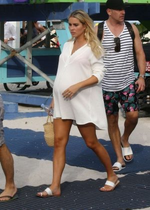 Claire Holt with Andrew Joblon Out In Miami