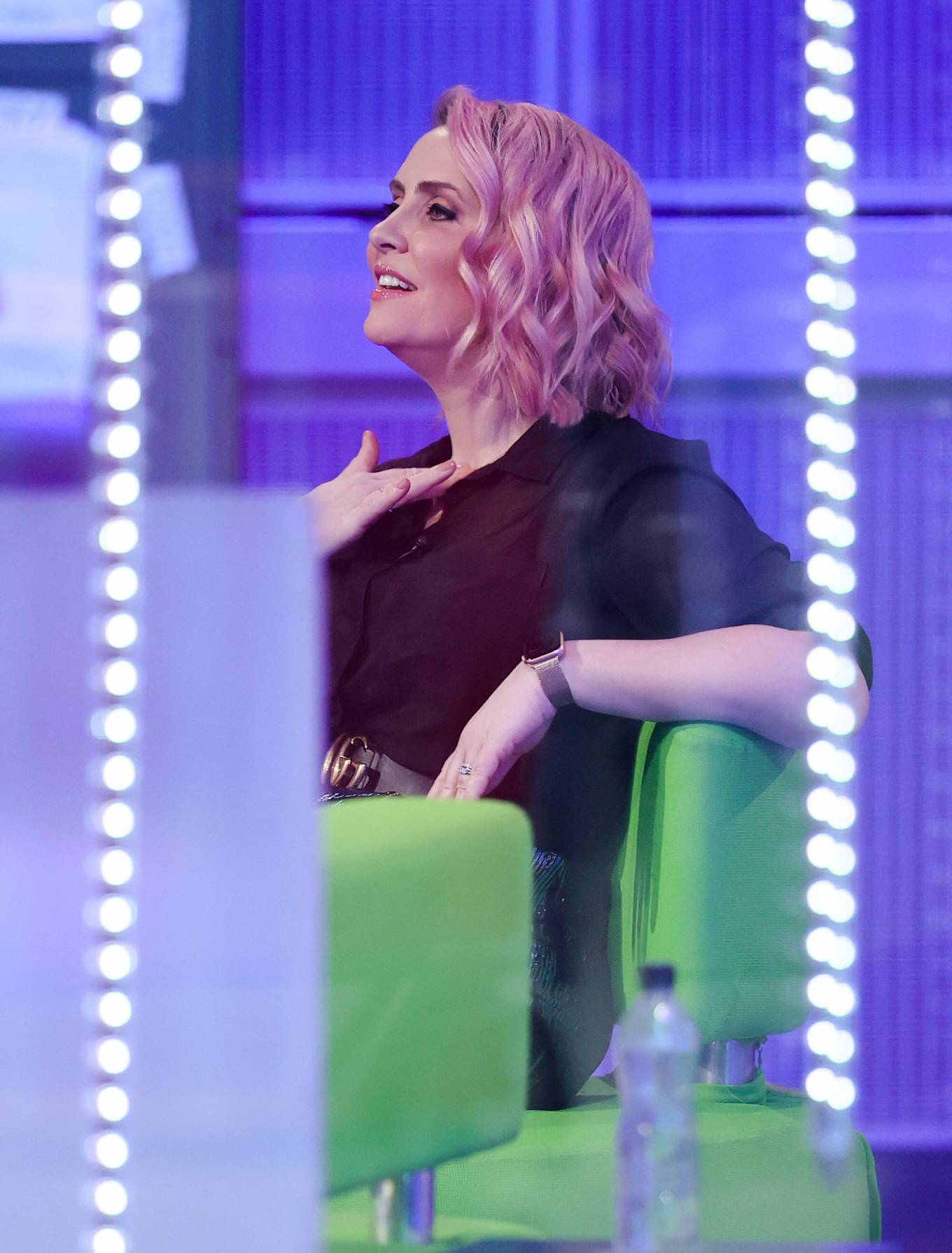 Claire Richards 2021 : Claire Richards – Pictured on BBC The One Show in London-02