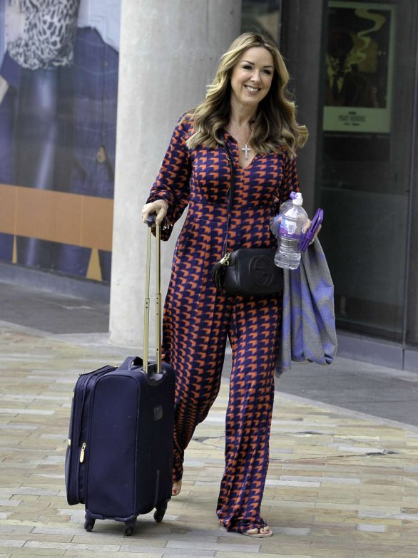 Claire Sweeney - Leaving BBC Breakfast Studios in Manchester