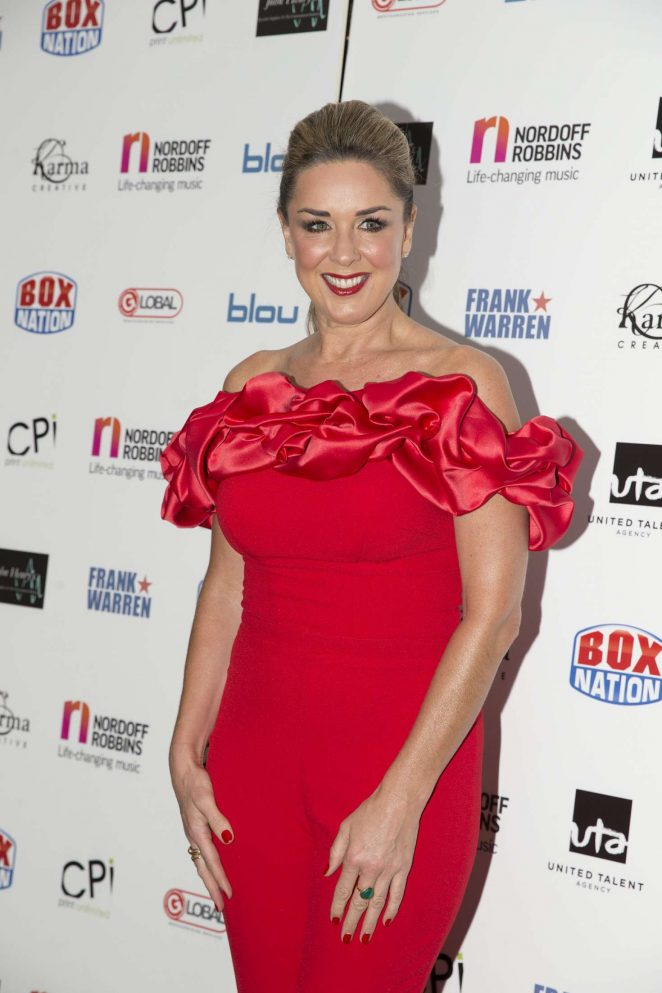 Claire Sweeney - Nordoff Robbins Championship Boxing Dinner in London