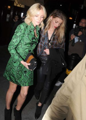 Clara Paget and Amber Heard - Love Magazine Party at Lou Lou's in London