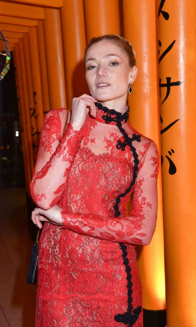 Clara Paget - Sushi Samba x Cool Earth Carnival Party in London