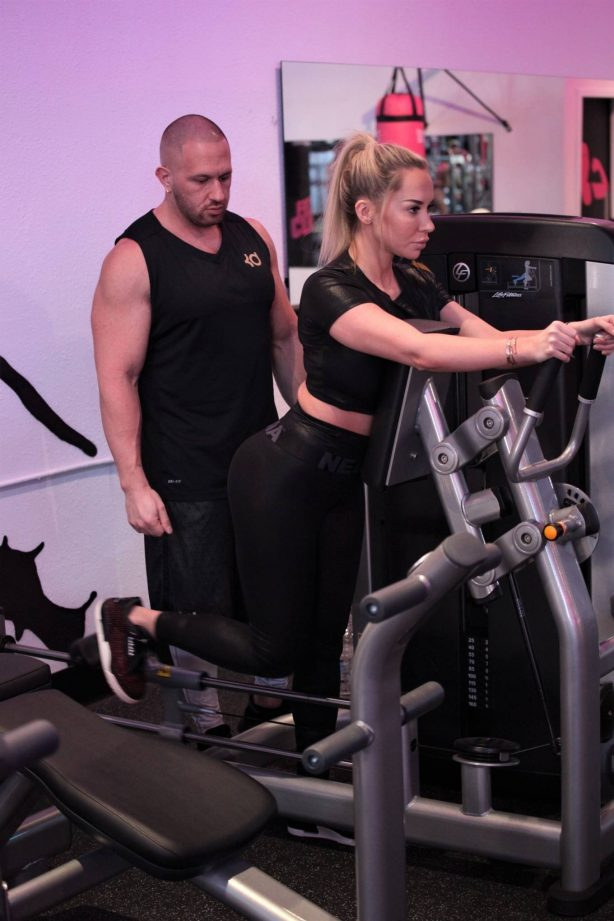 Claudia Fijal - Working out candids at Fit Club in Las Vegas