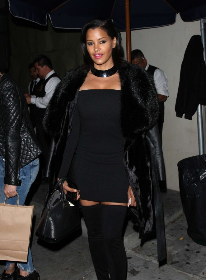 Claudia Jordan at Catch restaurant in West Hollywood