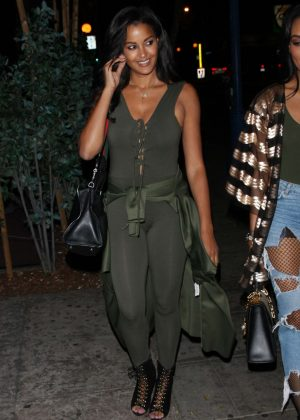 Claudia Jordan - Heads to the Delilah restaurant in West Hollywood