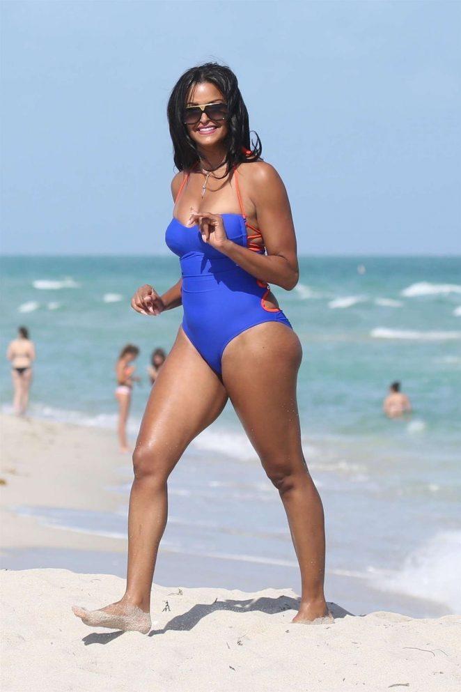 0c4f4e8100db Claudia Jordan in Blue Swimsuit 2018 -32 – GotCeleb