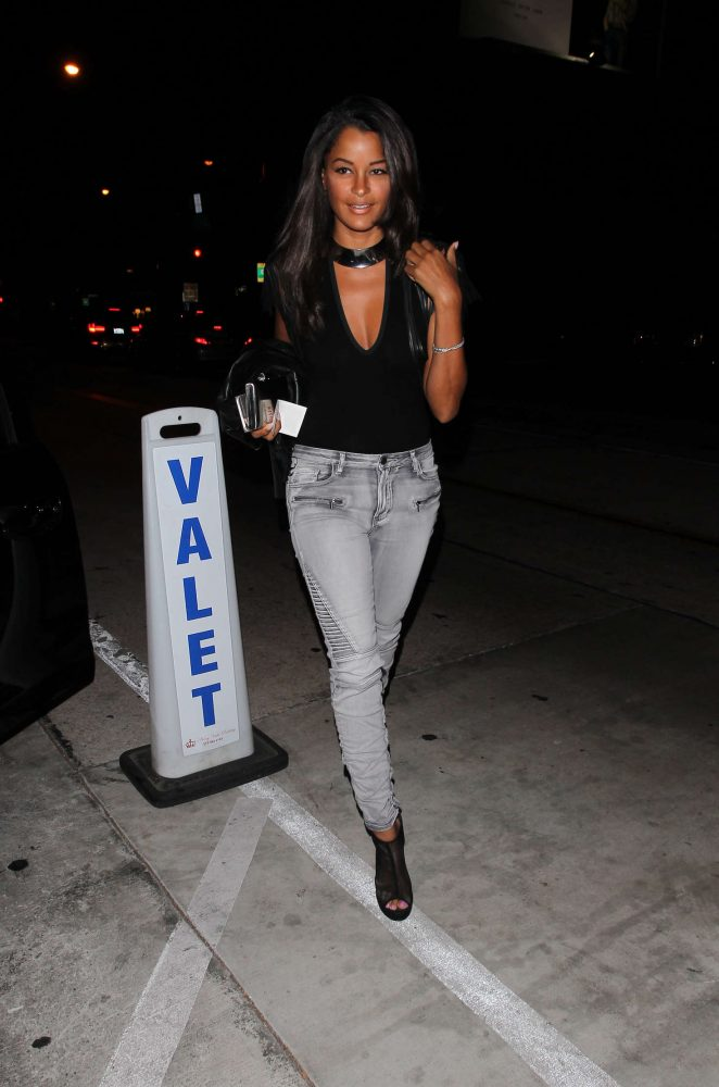 Claudia Jordan in Jeans at Catch Restaurant in West Hollywood