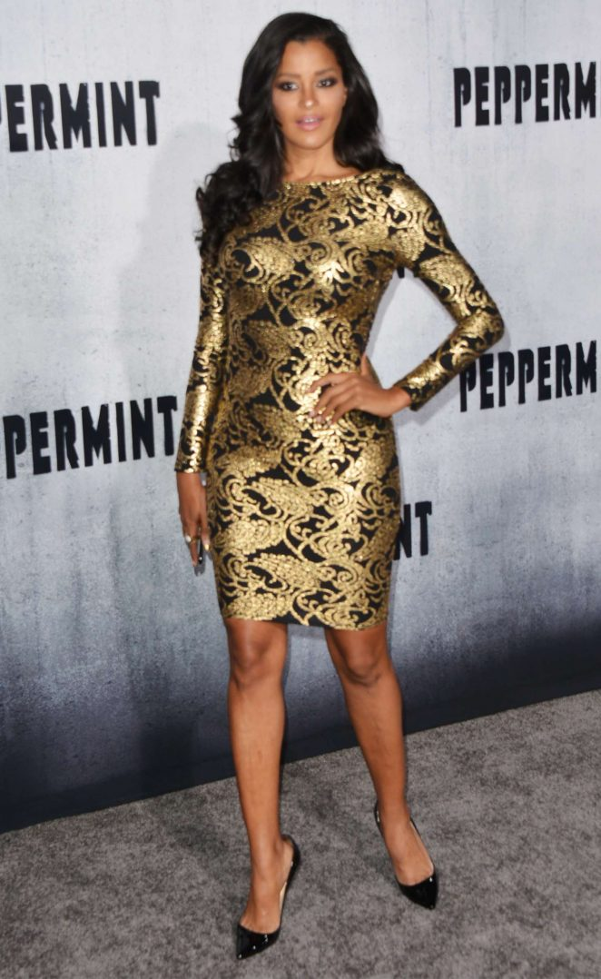 Claudia Jordan – 'Peppermint' Premiere in Los Angeles