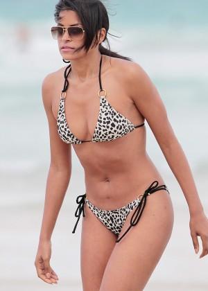 Claudia Jordanin Leopard Print Bikini -03