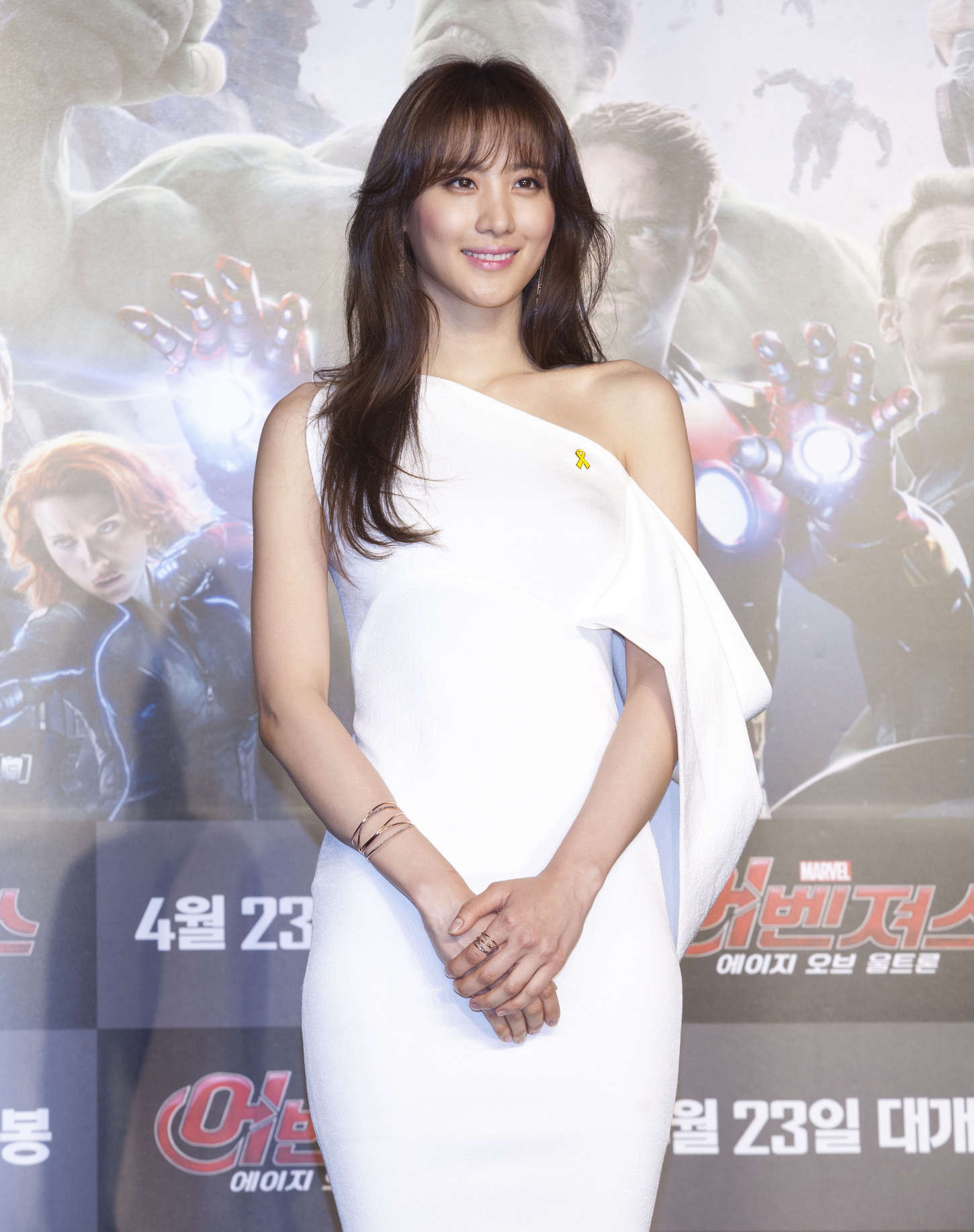 claudia kim avengers age of ultron press conference 08 gotceleb. Black Bedroom Furniture Sets. Home Design Ideas