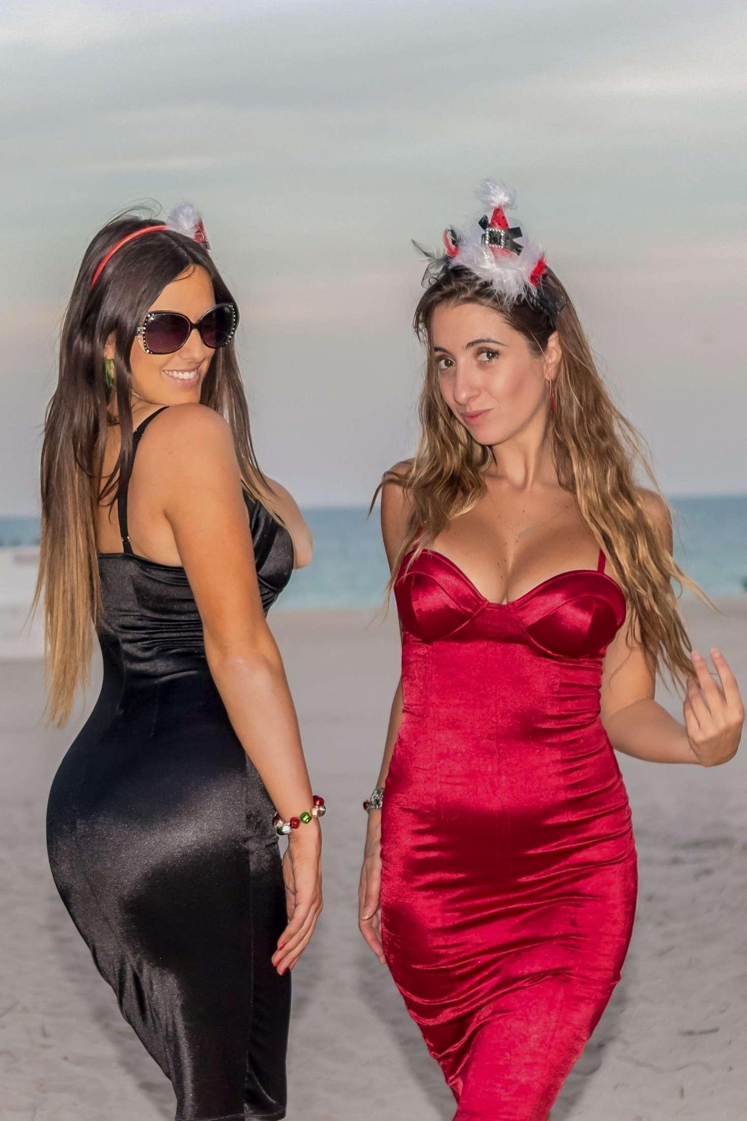 Claudia Romani and Lauren Francesca on Miami Beach