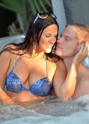 Claudia Romani and new boyfriend Christopher Johns in a spa in Florida