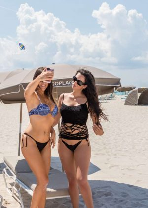 Claudia Romani and Tania Marie Carnigi in Bikini on South Beach