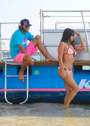 Claudia Romani in Pink Bikini in Miami