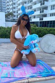 Claudia Romani - Bikini photoshoot for Easter