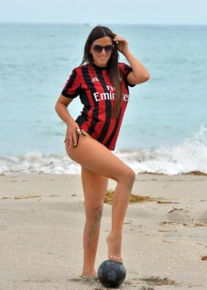 Claudia Romani - Bikini Shoot at Miami Beach