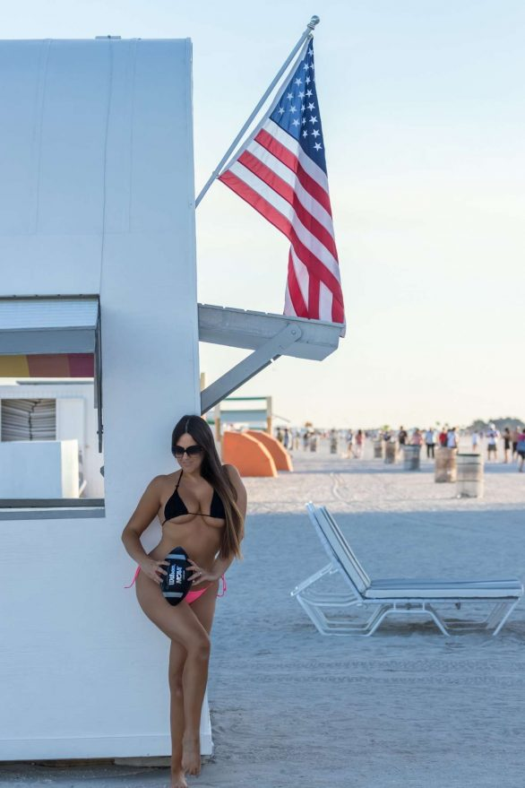 Claudia Romani - Getting ready for SuperBowl weekend on South Beach
