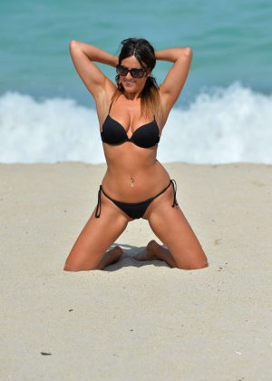 Claudia Romani - In a Bikini On the beach in Miami