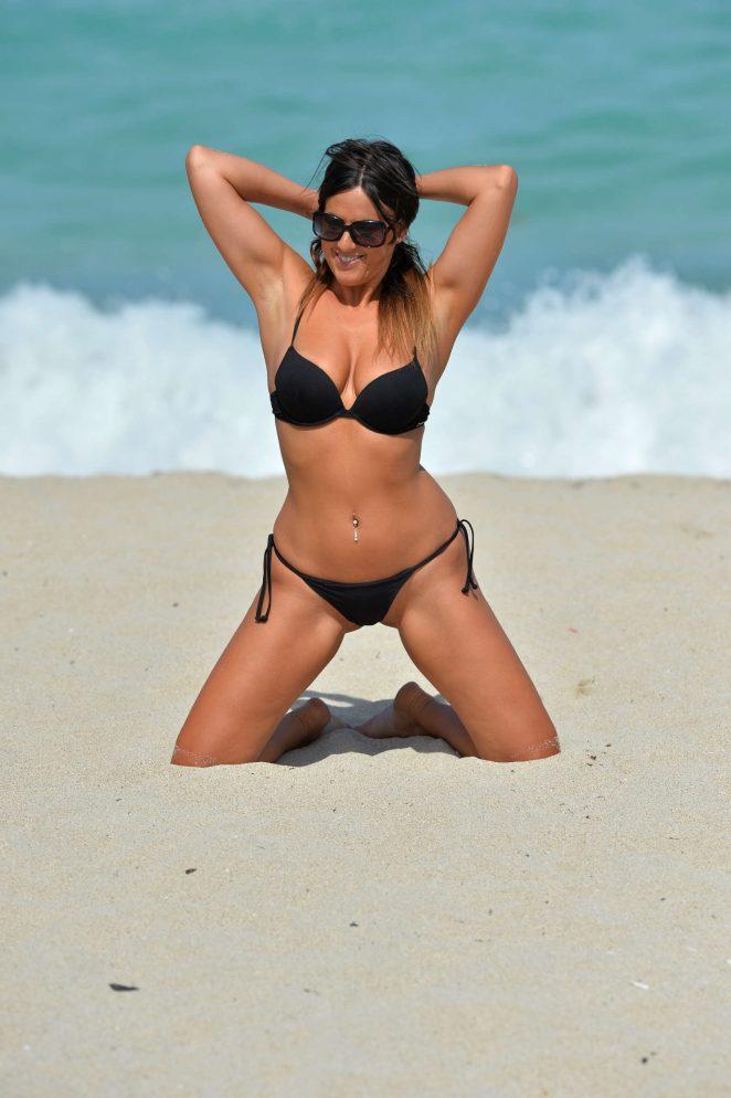 Claudia Romani - In a Bikini On the beach in Miami