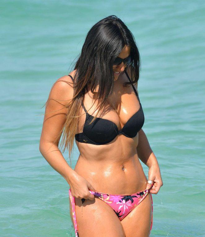 Claudia Romani in a Tiny Bikini in Miami