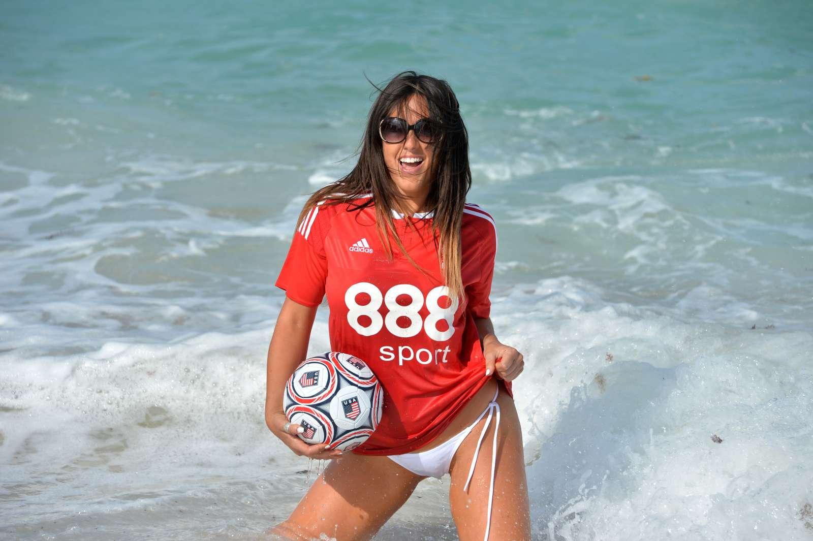 Claudia Romani in Bikini Bottom Shoot for Calendar in Fort Lauderdale