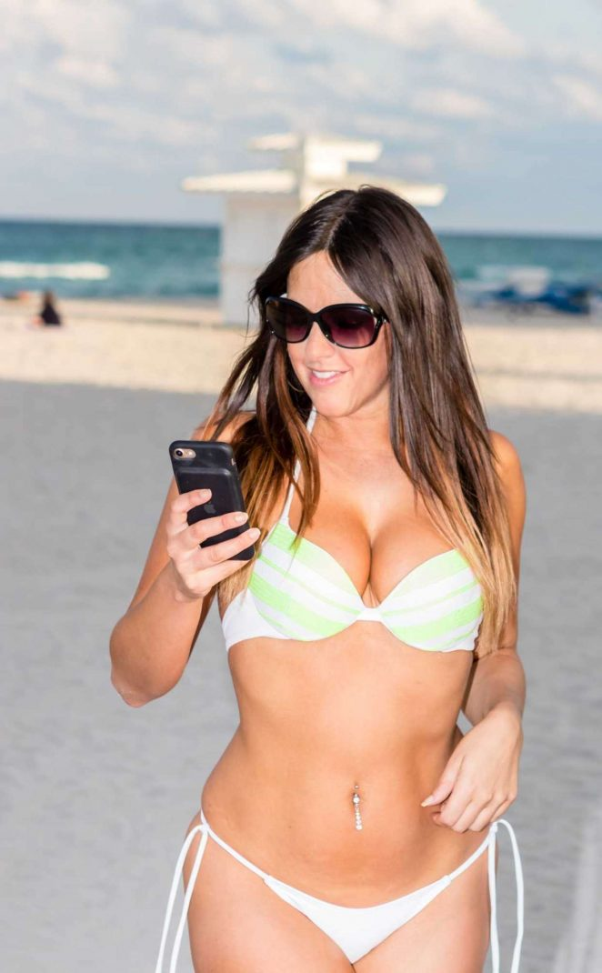 Claudia Romani in Bikini on South Beach in Miami