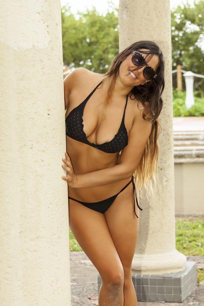 Claudia Romani in Bikini on South Beach