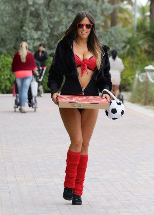 Claudia Romani in Bikini out in Miami