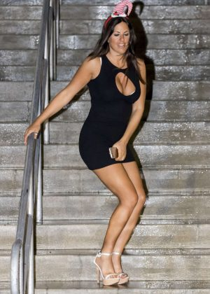 Claudia Romani in Short Dress Leaving American Airlines Arena in Miami