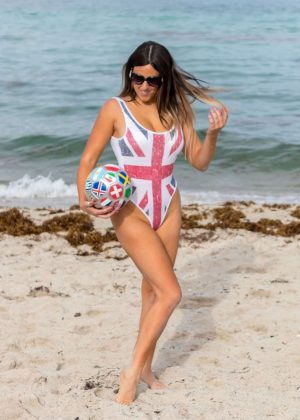 Claudia Romani in Swimsuit in Miami
