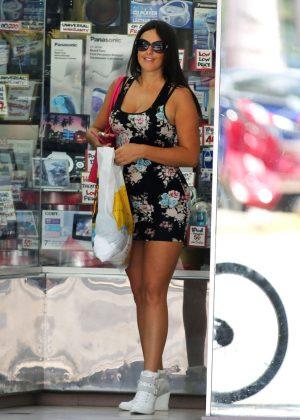 Claudia Romani in Tight Mini Dress out in Miami